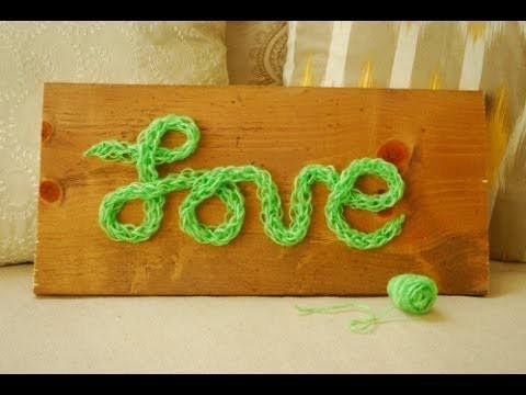 DIY Finger Knitting - 30 Minute Love Sign
