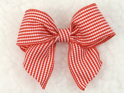 DIY Gingham Bow, Tutorial, DIY,  Ribbon Bow #6