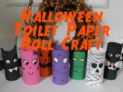 DIY Halloween Decorations : Recycled Toilet Paper Roll Craft