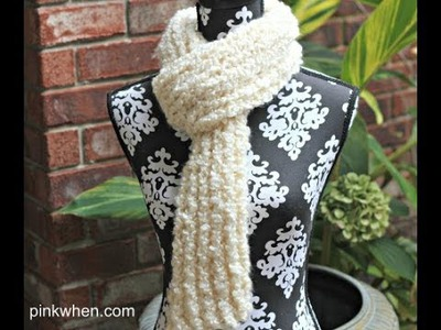 DIY: How to Crochet Scarf With Loom (Knitting)