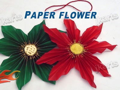DIY How to make Easy Paper Flower - JK Arts 122