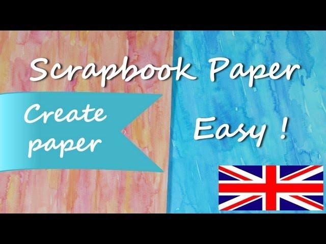 DIY How to paper *Make Paper for Scrapbook Ideas* Paper for Craft Scrap Cardstock Pintura Facil