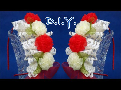 ❃ ❁ ❀ D.I.Y. Lace & Organza Headband - Tutorial ❃ ❁ ❀