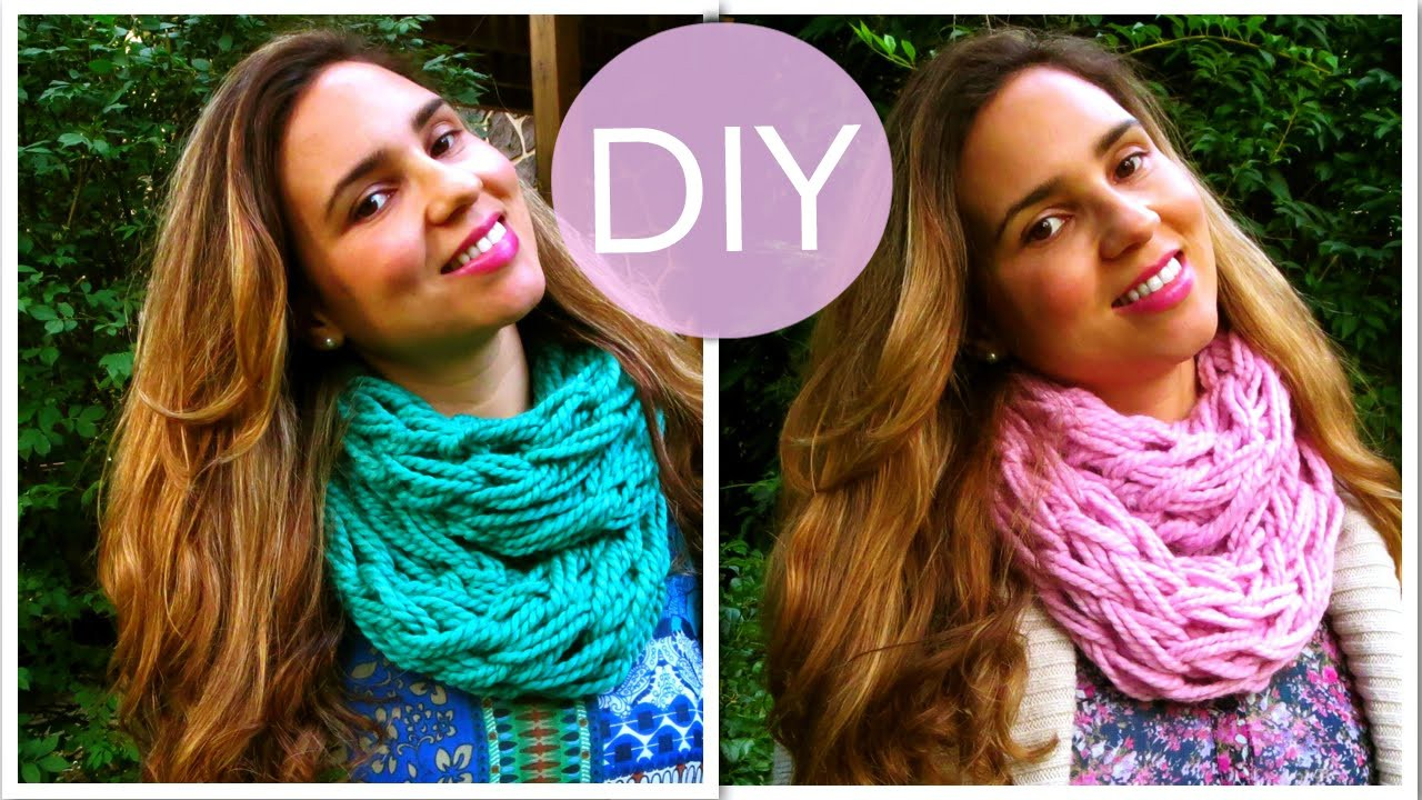 DIY Make an Infinity Scarf in 30 Minutes! (Arm Knitting) - DIY Projects (Great Gift Idea)