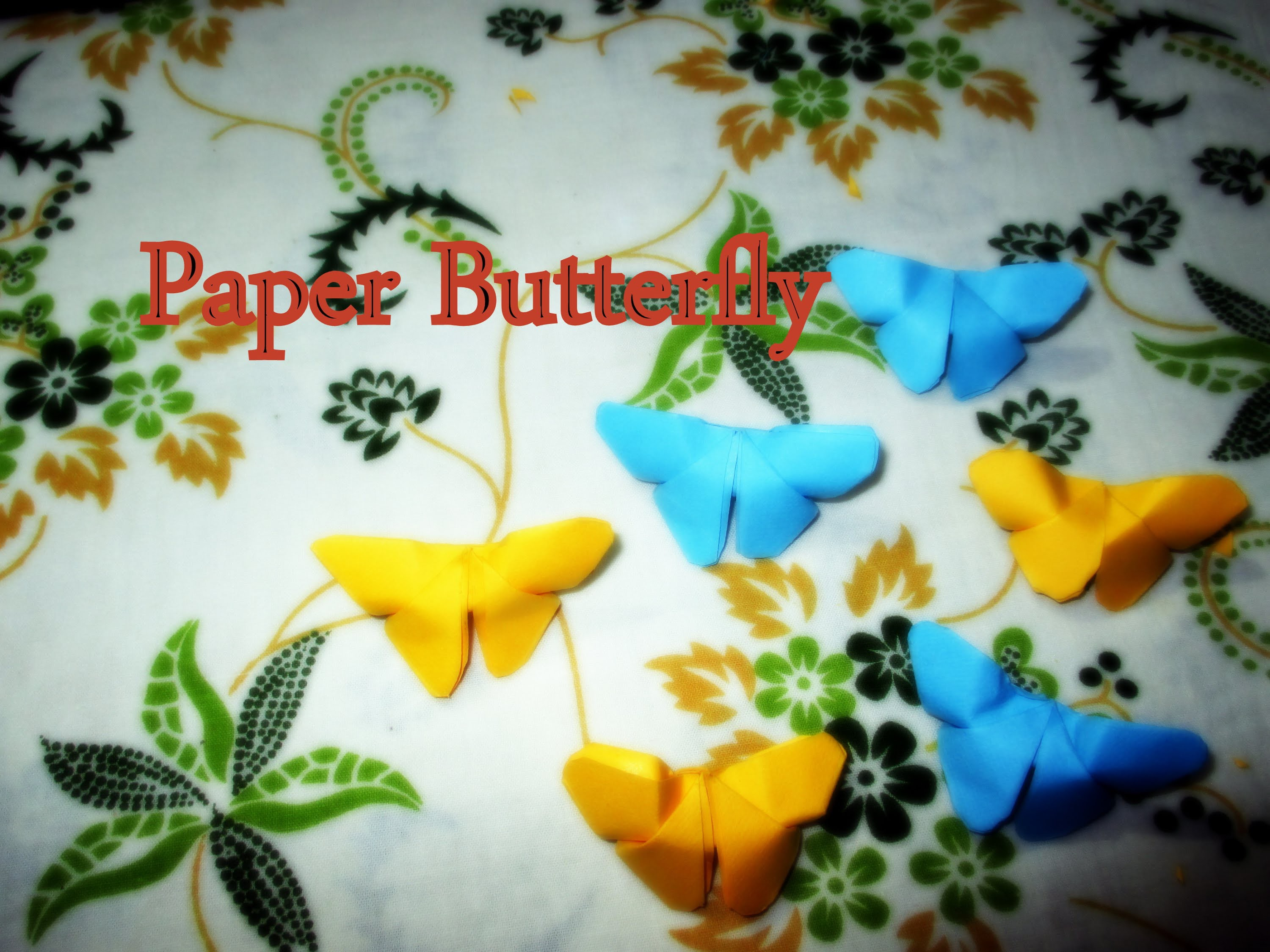 DIY Paper Crafts ::How to Make a Paper Butterfly(Very Easy) - Innovative Arts