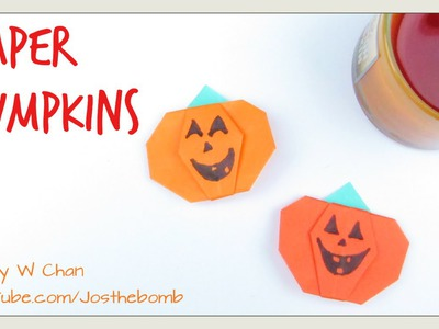 DIY Paper Pumpkins - Origami Pumpkin - Halloween Crafts Paper Crafts Kids Easy