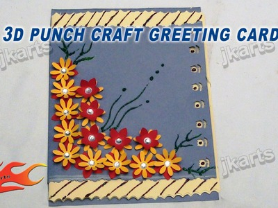 DIY Punch Craft 3D Greeting Card - JK Arts 120