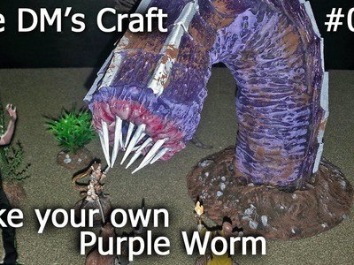 DIY Purple Worm model cheap.easy (The DM's Craft, EP 73)