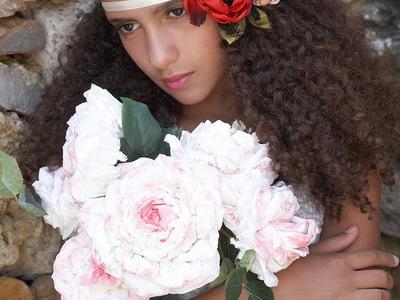 DIY: Roses vintage paper craft flower Rosas de papel toalha.