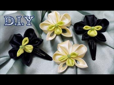 D.I.Y. Satin Kanzashi Orchid Tutorial