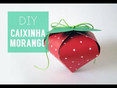 ✂ DIY.Tutorial - Caixinha Morango