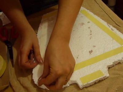 DIY tutorial espositore portagioielli-portaorecchini-portacollane fai da te riciclo creativo