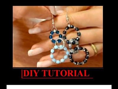 DIY TUTORIAL orecchino a cerchio cristalli easy earrings fai da te handmade