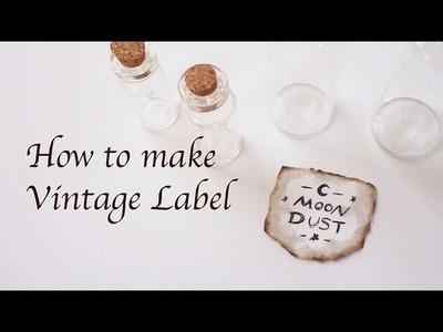 DIY Vintage Label Tutorial - DIY 自製復古標簽