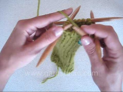 DROPS Knitting Tutorial: How to knit a toe on a knitted sock