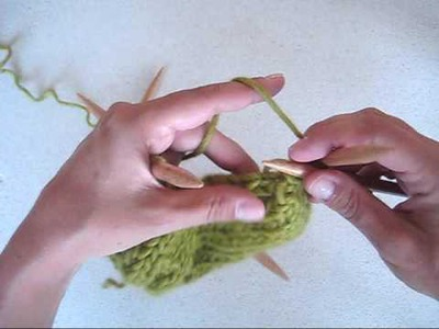 DROPS Knitting Tutorial: How to knit a heel on a knitted sock