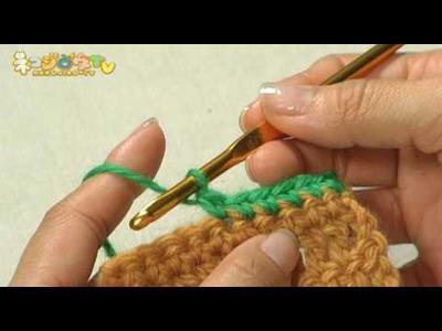 こま編み | かぎ針編みの基本(How to Single Crochet Stitch)