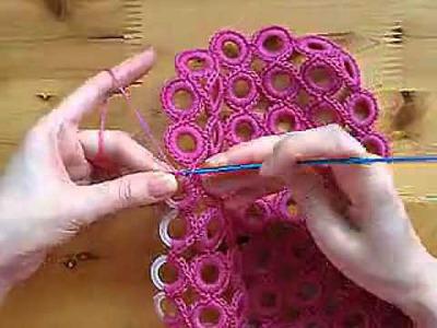 钩针 圈圈包包视频教程 crochet circles bag
