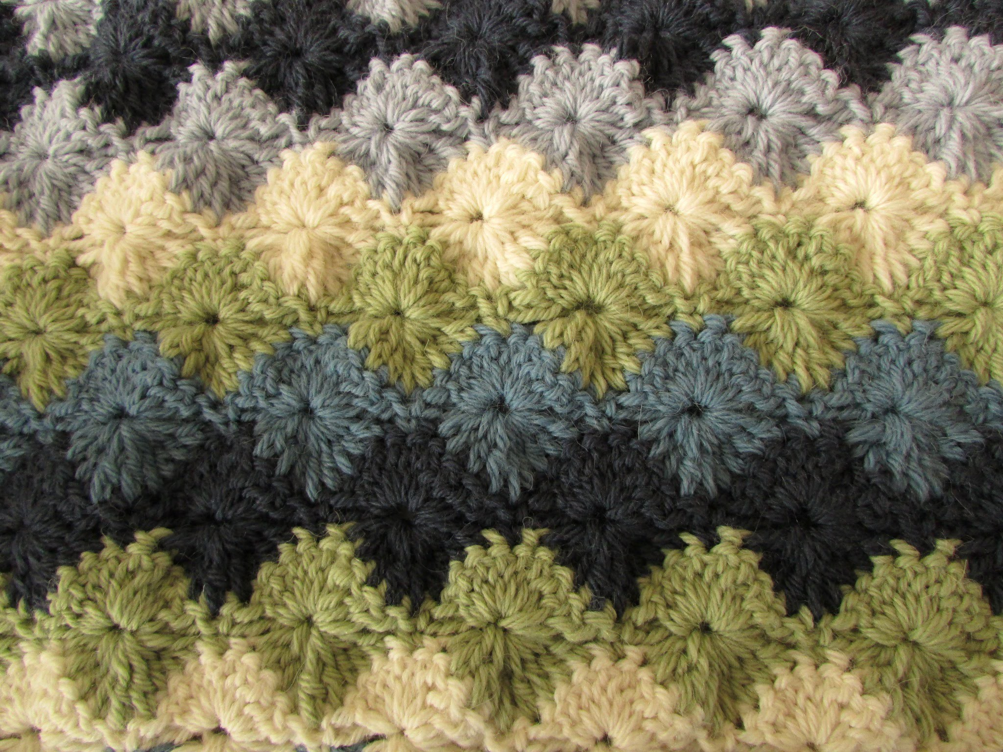 EASY crochet catherine wheel. starburst stitch blanket tutorial - part 1