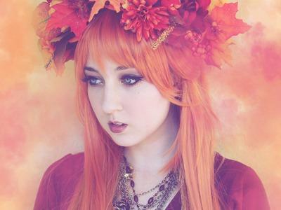 """Fall Fairy"" DIY Flower Crown TUTORIAL"
