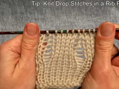 Fallmaschen stricken - Knitting Drop stitches - Stricken lernen - Learn how to knit