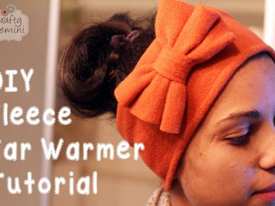 Fleece Ear Warmers- DIY Sewing Tutorial