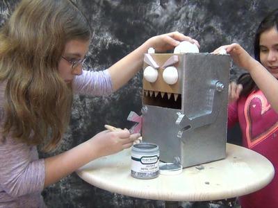 Foam Carving Craft Tutorial: Evil Robot Valentine Mail Boxes