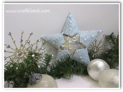 Frosty Christmas Star Recycling Craft Challenge Tutorial  Craft Klatch Christmas Series