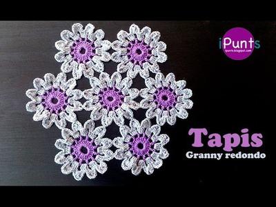 Crochet fluffy flower tutorial 4 part 1 of 2 como hacer - Como hacer flores de ganchillo ...