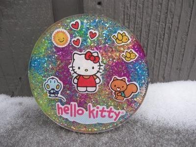 Hello Kitty Sticker Resin Coaster Craft Tutorial