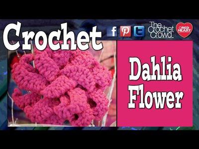 How to Crochet A Dahlia Flower