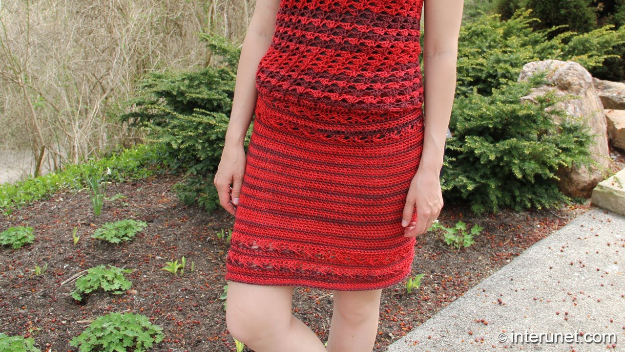 How to crochet a skirt