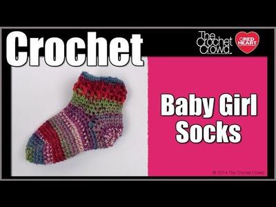 How To Crochet Baby Girl Socks