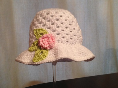 How to crochet beautiful sun hat for little girl