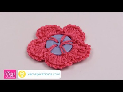 How to Crochet Button Flowers