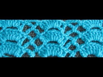 How to Crochet The Fan Trellis Stitch