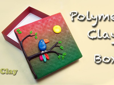 How to decorate a Box - DIY polymer clay tutorial