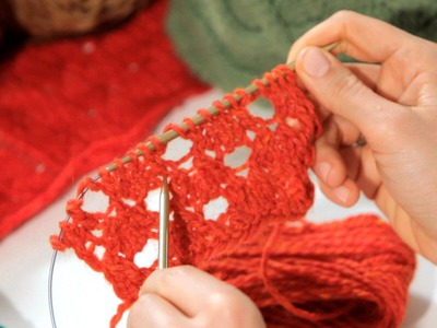 How to Do a Double Yarn Over | Knitting