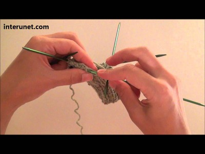 How to knit baby socks - video tutorial