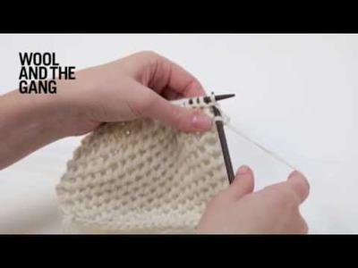 How to Knit Hexagon Stitch
