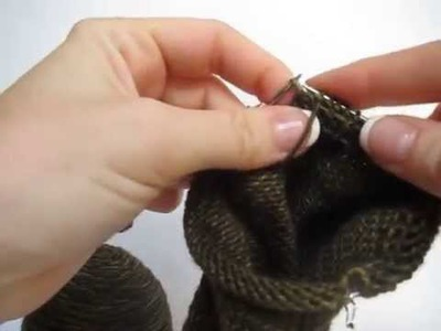 "How to knit socks on 9"" circular needles"