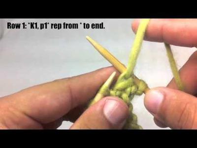 How to Knit The 1 x 1 Rib Stitch