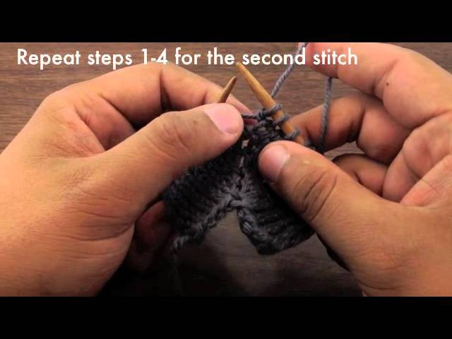 How to Knit the Make Two Double Increase - M2 (English Style)