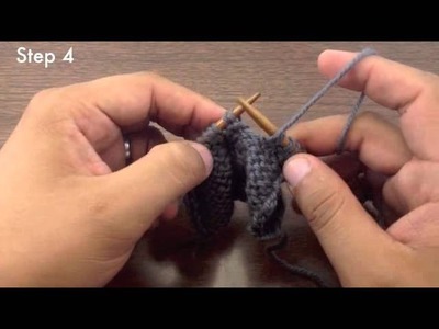 How to Knit the Slip Slip Purl Through the Back Loop Decrease - SSP TBL (English Style)