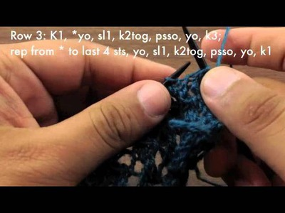 How to Knit the Trellis Lace Stitch (English Style)