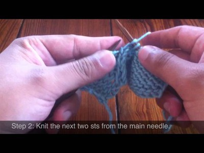 How To Knit The Twist Four Back Cable Stitch (T4B)