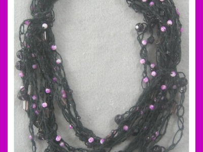 How To Make A Beaded Multi Layered Crochet Necklace - Easy- Tutorial