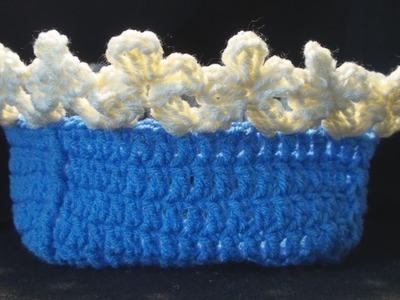 How to make a Crochet Flower Edging Left Hand Version Crochet Geek