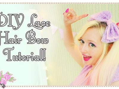 How To Make A Cute Lace Hair Bow - Craft Tutorial - Violet LeBeaux