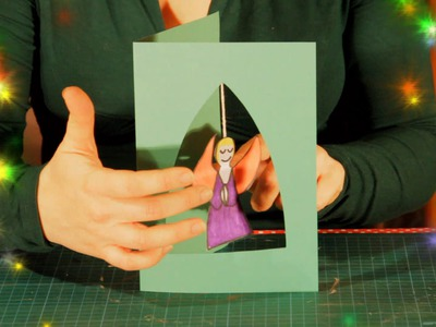 How to make a Hanging Angel Christmas Card - easy simple Xmas Craft for children